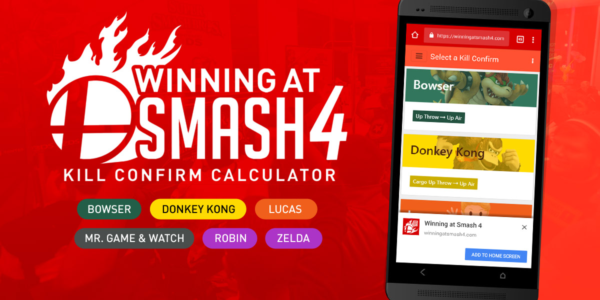 Winning at Smash 4 Kill Confirm Calculator